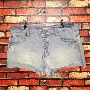 Size 31 Free People Button Fly Denim Shorts